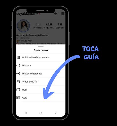 crear guía de instagram